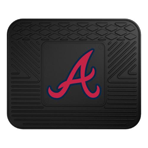 "14"" x 17"" Black and Pink MLB Atlanta Braves Heavy Duty Rear Car Seat Utility Mat - IMAGE 1"