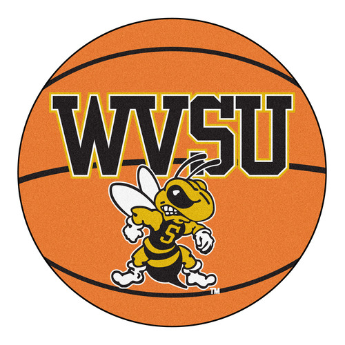 "27"" Orange and White NCAA West Virginia State University Yellow Jackets Basketball Mat - IMAGE 1"
