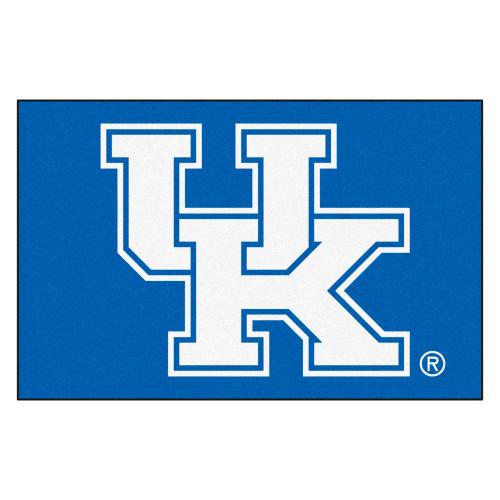 "19"" x 30"" Blue and White NCAA University of Kentucky Wildcats Starter Rectangular Door Mat - IMAGE 1"