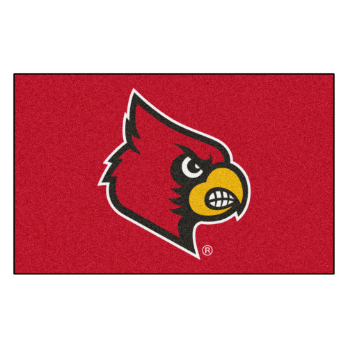 """59.5 x 94.5"""" Red and Yellow NCAA University of Louisville Cardinals Ulti-Mat Area Rug - IMAGE 1"""
