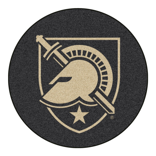"""Brown NCAA U.S. Military Academy Army West Point Black Knights Round Welcome Door Mat 27"""" - IMAGE 1"""