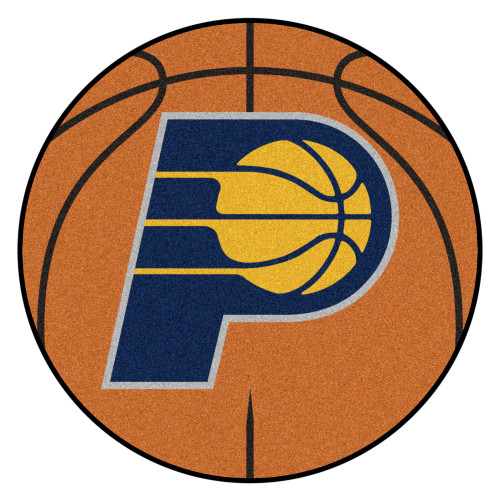 """27"""" Orange and Yellow NBA Indiana Pacers Basketball Round Doormat - IMAGE 1"""