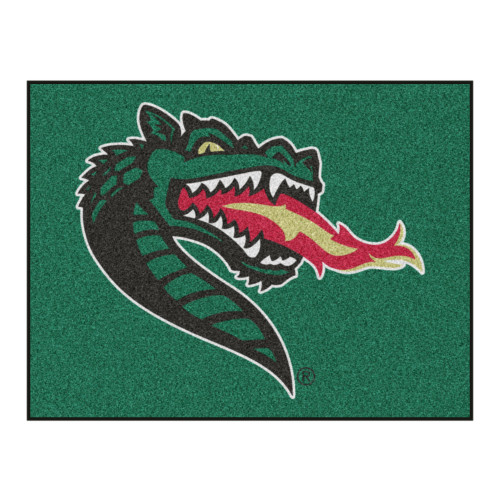 """33.75"""" x 42.5"""" Green and Red NCAA University of Alabama at Birmingham Blazers All Star Mat Area Rug - IMAGE 1"""