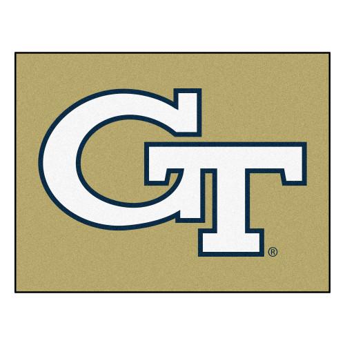"33.75"" x 42.5"" White NCAA Georgia Tech Yellow Jackets Non-Skid Mat Rectangular Area Rug - IMAGE 1"