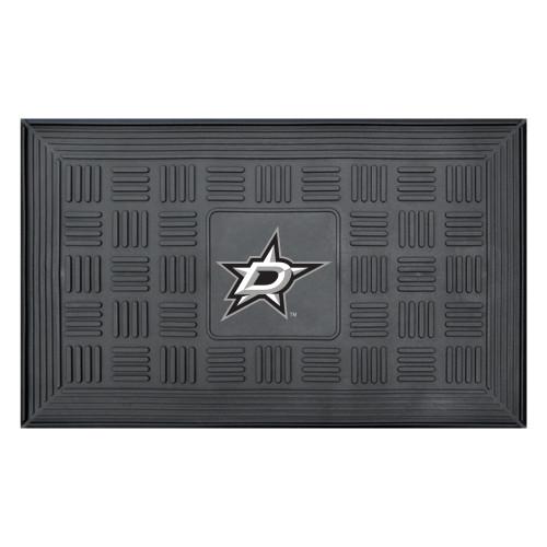 "19.5"" x 31.25"" Black NHL Dallas Stars 3-D Team Medallion Doormat - IMAGE 1"