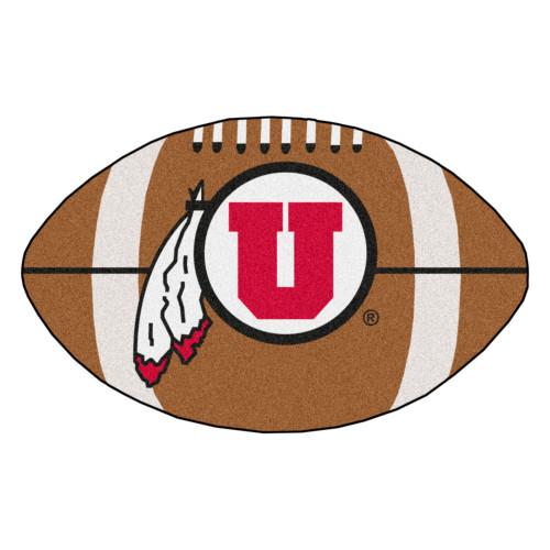 "20.5"" x 32.5"" Brown and White NCAA University of Utah Utes Mat - IMAGE 1"