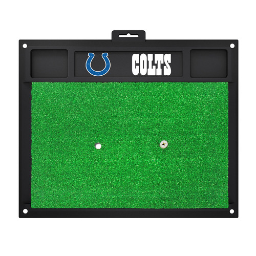 """20"""" x 17"""" Black and Green NFL Indianapolis """"Colts"""" Golf Hitting Mat Practice Accessory - IMAGE 1"""