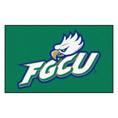 "59.5"" x 94.5"" Green and White NCAA Florida Gulf Coast University Eagles Ulti-Mat Area Rug - IMAGE 1"