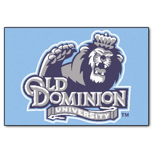 "19"" x 30"" Blue NCAA Old Dominion University Monarchs Starter Mat Rectangular Area Rug - IMAGE 1"