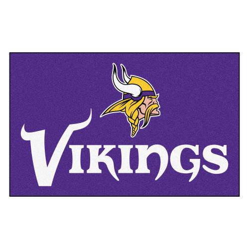 "59.5"" x 94.5"" Purple and White NFL Minnesota Vikings Ulti-Mat Rectangular Area Rug - IMAGE 1"