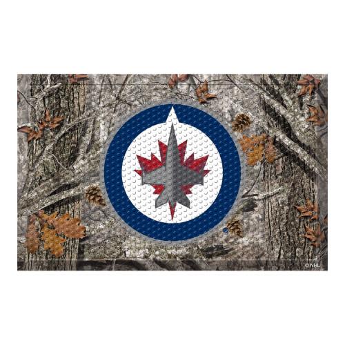 """19"""" x 30"""" Gray and White NHL Winnipeg Jets Scraper Rectangular Door Mat - IMAGE 1"""