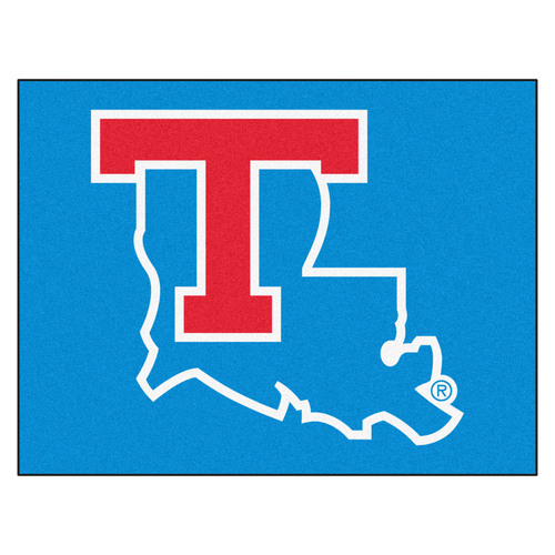 "33.75"" x 42.5"" Blue and Red NCAA Louisiana Tech University Tigers All Star Door Mat - IMAGE 1"