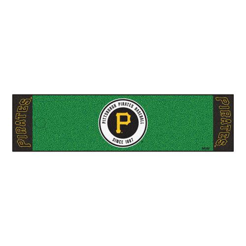 "18"" x 72"" Green and Yellow MLB Pittsburgh Pirates Golf Putting Mat - IMAGE 1"