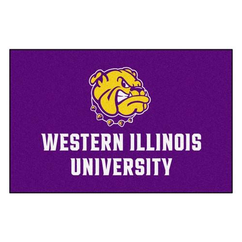 "19"" x 30"" Purple and White NCAA Western Illinois University Leathernecks Starter Mat - IMAGE 1"