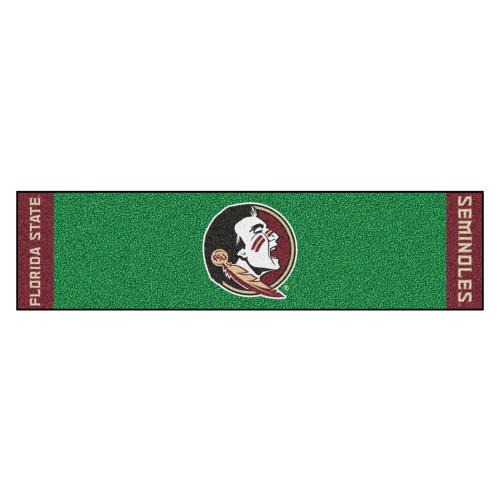 "18"" x 72"" Green and Red NCAA Florida State University Seminoles Golf Putting Mat - IMAGE 1"