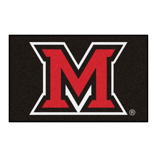 5' x 8' Red and Black NCAA Miami University OH Redhawks Ulti-Mat Rectangular Area Rug - IMAGE 1