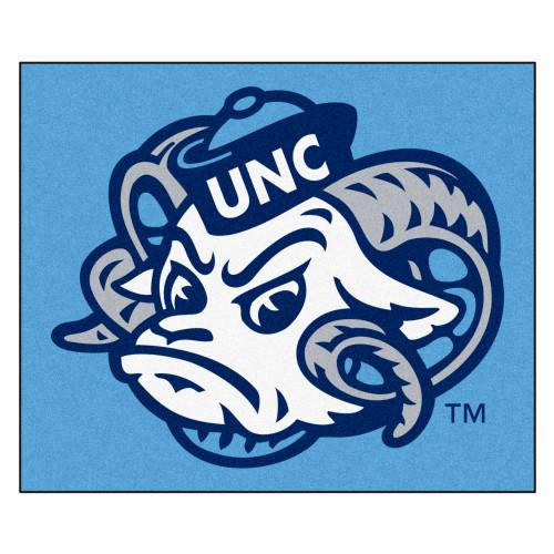 "59.5"" x 71"" Blue NCAA University of North Carolina Tar Heels Tailgater Mat Outdoor Area Rug - IMAGE 1"