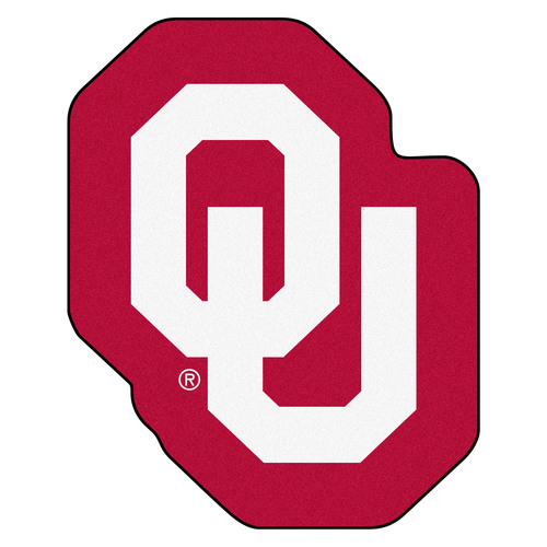 "29"" x 37.6"" Red NCAA University of Oklahoma Sooners Mascot Mat - IMAGE 1"