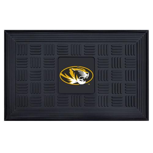 """19.5"""" x 31.25"""" Black and Yellow NCAA University of Missouri Tigers Gophers Outdoor Door Mat - IMAGE 1"""