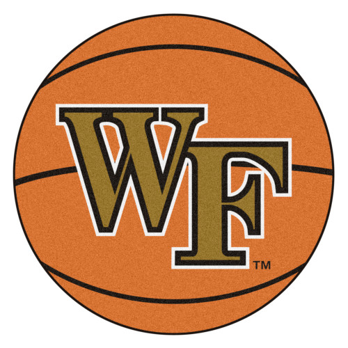 """27"""" Brown and Orange NCAA Wake Forest University Demon Deacons Basketball Mat - IMAGE 1"""