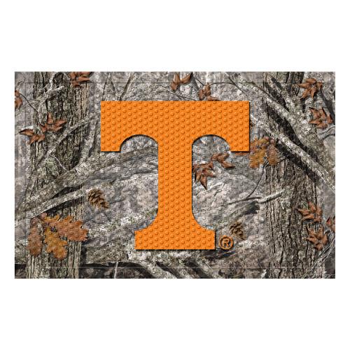 """Gray and Orange NCAA University of Tennessee Volunteers Shoe Scraper Doormat 19"""" x 30"""" - IMAGE 1"""