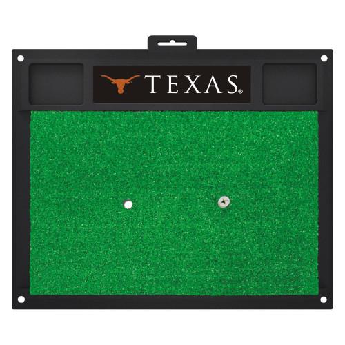 "17"" x 20"" Black and Green NCAA West Virginia University Mountaineers Golf Hitting Mat - IMAGE 1"