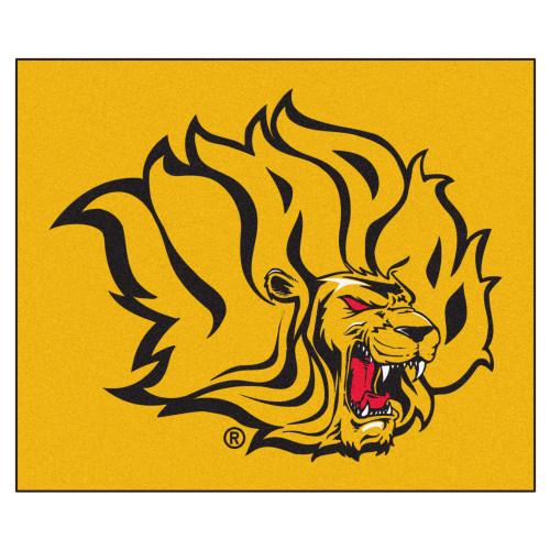 "59.5"" x 71"" Yellow NCAA University of Arkansas at Pine Bluff Golden Lions Tailgater Mat Area Rug - IMAGE 1"