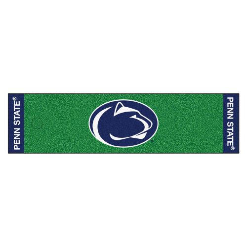 """18"""" X 72"""" Green and Blue NCAA Penn State Nittany Lions Golf Putting Mat - IMAGE 1"""