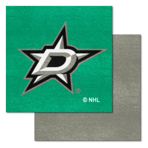 "20pc Gray and Green NHL Dallas Stars Team Carpet Tile Flooring Squares 18"" x 18"" - IMAGE 1"