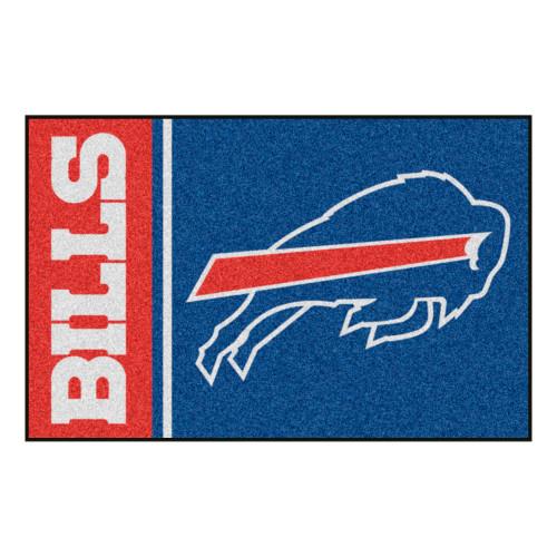 """19"""" x 30"""" Red and Blue NFL Buffalo Bills Starter Rectangular Mat - IMAGE 1"""