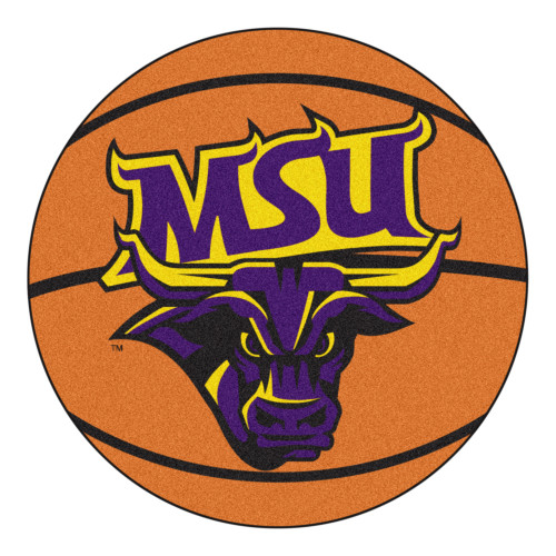 "27"" Brown and Purple NCAA Minnesota State University Round Mat Area Rug - IMAGE 1"