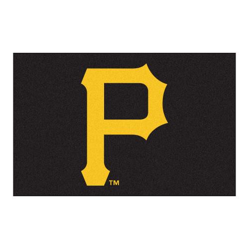 "19"" x 30"" Black and Yellow MLB Pittsburgh Pirates Starter Door Mat - IMAGE 1"