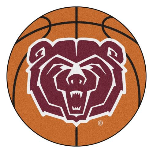 "27"" Brown and Red NCAA Missouri State Bears Basketball Mat Area Rug - IMAGE 1"