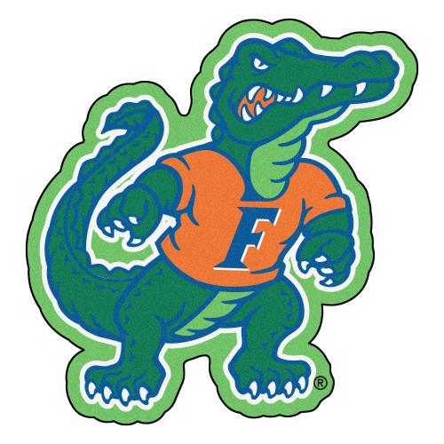 "30"" x 31"" Green and Orange NCAA University of Florida Gators Mascot Logo Shaped Door Mat - IMAGE 1"