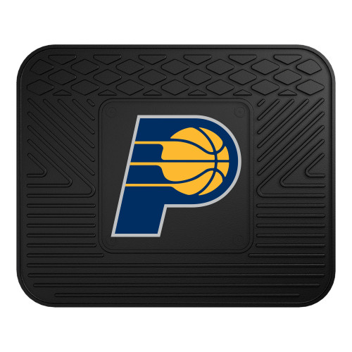 """14"""" x 17"""" Black and Blue NBA Indiana Pacers Heavy Duty Rear Car Seat Utility Mat - IMAGE 1"""