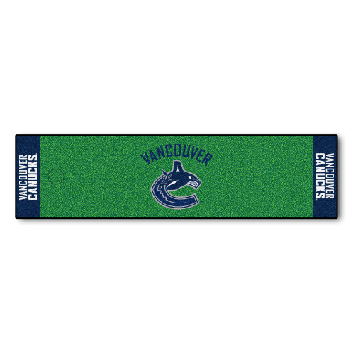 """18"""" x 72"""" Green and Blue NHL Vancouver Canucks Putting Mat Golf Accessory - IMAGE 1"""