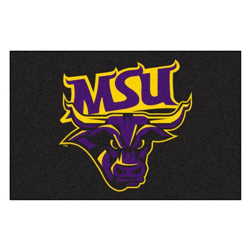 "19"" x 30"" Gray and Blue NCAA Minnesota State University Mankato Mavericks Starter Door Mat - IMAGE 1"