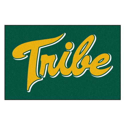 "Green NCAA William and Mary Tribe Rectangular Starter Door Mat 19"" x 30"" - IMAGE 1"