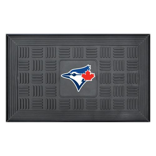 "19.5"" x 31.25"" Black and Blue MLB Toronto Blue Jays Team Medallion Outdoor Door Mat - IMAGE 1"