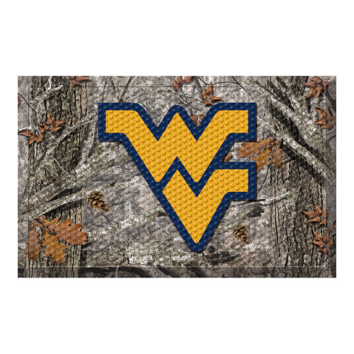 "Gold and Gray NCAA Virginia University Mountaineers Shoe Scraper Doormat 19"" x 30"" - IMAGE 1"