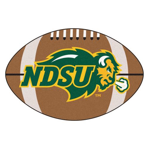 "20.5"" x 32.5"" Brown and Green NCAA North Dakota State University Bison Football Mat - IMAGE 1"