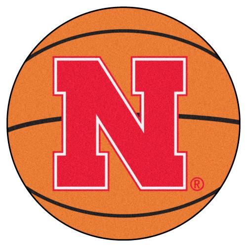 "27"" Orange and Red NCAA University of Nebraska Blackshirts Cornhuskers Basketball Area Rug - IMAGE 1"