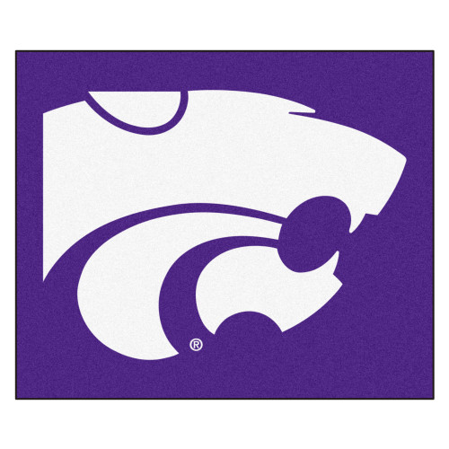 "59.5"" x 71"" Blue and White NCAA Kansas State University Wildcats Rectangular Tailgater Mat - IMAGE 1"