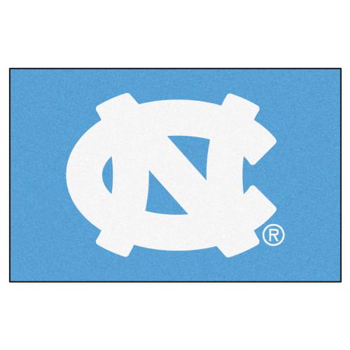 "19"" x 30"" Blue and White NCAA University of North Carolina Chapel Hill Tar Heels Starter Door Mat - IMAGE 1"