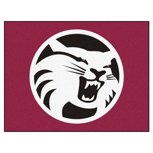 """33.75"""" x 42.5"""" Red and White NCAA Cal State - Chico Wildcats All Star Non-Skid Rectangular Door Mat - IMAGE 1"""