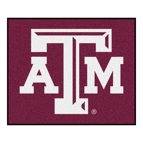 """59.5"""" x 71"""" Red and White NCAA Texas A and M University Aggies Tailgater Outdoor Area Rug - IMAGE 1"""