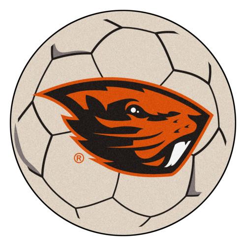 "27"" Gray and Orange NCAA Oregon State University Beavers Soccer Ball Mat - IMAGE 1"
