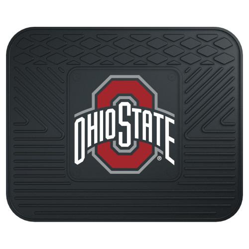 "17""x14"" NCAA Ohio State University Buckeyes Black Heavy Duty Rear Car Seat Utility Mat - IMAGE 1"