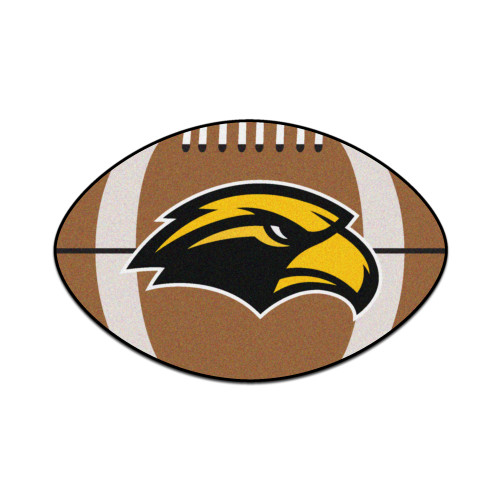 """20.5"""" x 32.5"""" Brown and Yellow NCAA University of Southern Mississippi Southern Miss Golden Eagles Mat - IMAGE 1"""