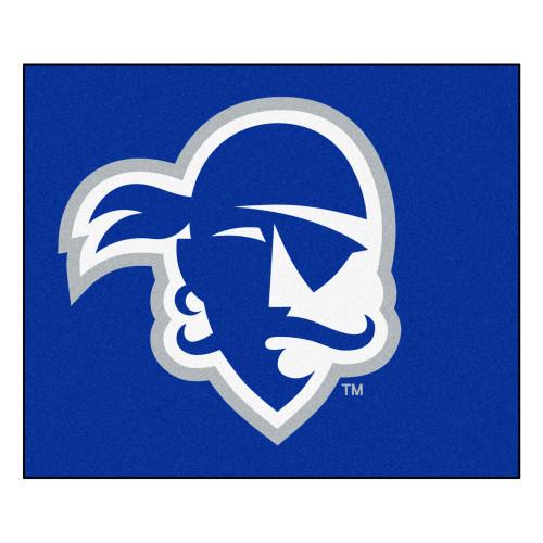 5' x 6' Blue and White Contemporary NCAA Seton Hall University Pirates Rectangular Outdoor Area Rug - IMAGE 1